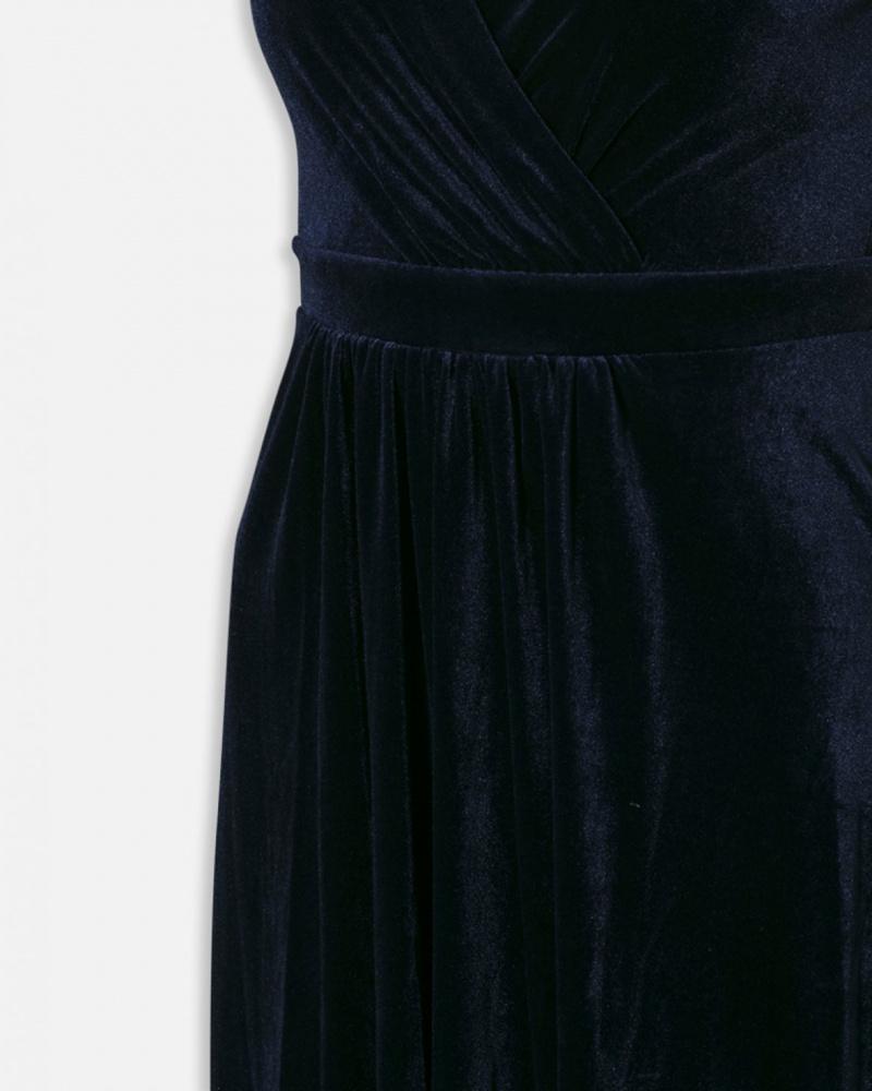Sisters Point Gell lang velour kjole blå Oddruns No. 1